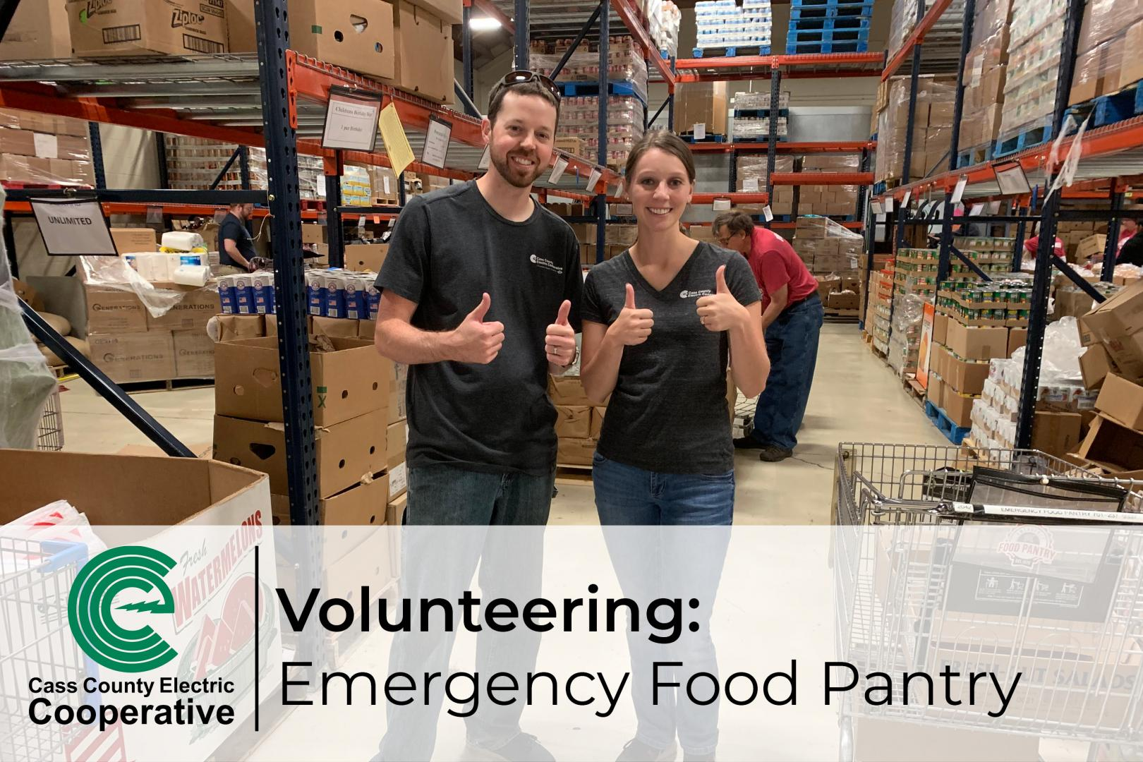 Volunteering at Emergency Food Pantry